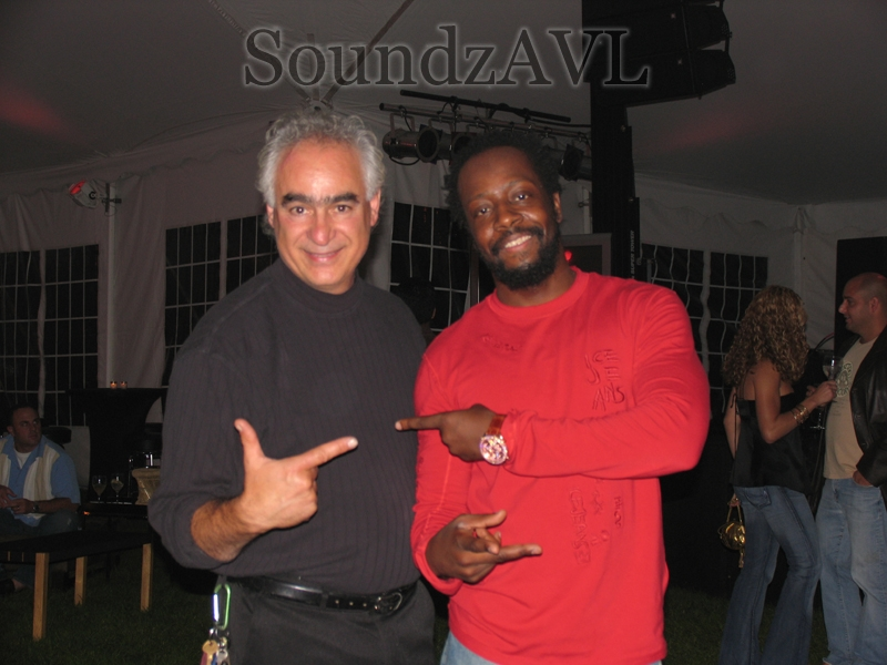 "Wyclef Jean & ""C"" at a Fundraising Event"